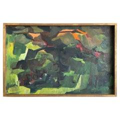 Unusual Mid Century Oil Painting