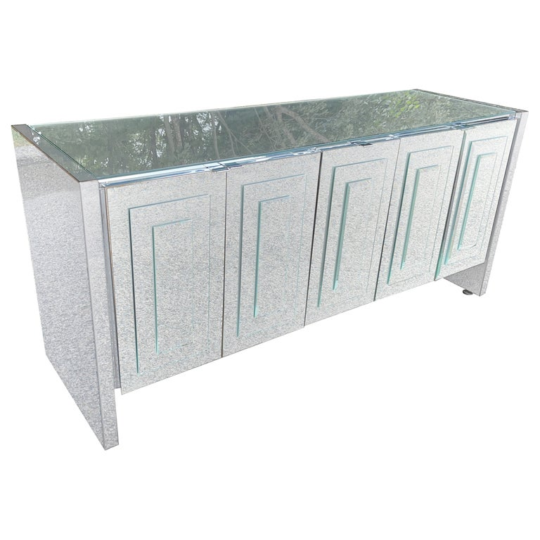 O. B. Solie for Ello Mirrored Five Door Sideboard For Sale