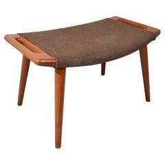 Vintage Hans Wegner Papa Bear Chair Ottoman in Teak