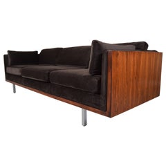 Milo Baughman for Directional Rosewood Panel Case Sofa