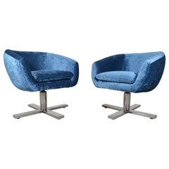 Bauhaus Swiveling Pod Chairs by Edward Axel Roffman, New York, Circa 1960