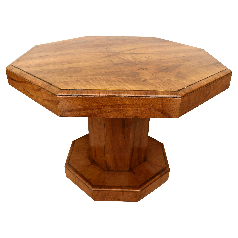 Art Deco Walnut Occasional Table, English, c1930