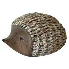 Too Cute Animal Hedgehog Textured Pottery Art Modern, 1970s