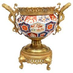 English Regency Style 19th Century Imari Porcelain Centerpiece