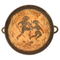 Greek Style Painted Terra Cotta Centerpiece