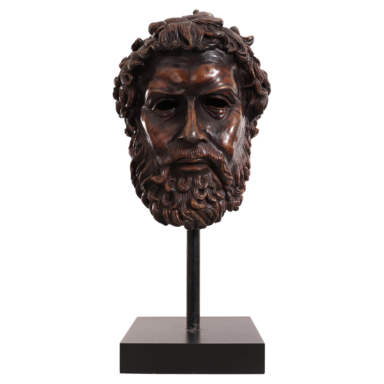 Italian Neoclassic Style Bronze Poseidon Bust