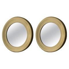 Set of 2 Brass Glas Mäster Markaryd Mirrors