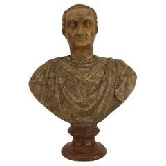 Italian Neo-Classic Style Marble Bust of Roman Emperor