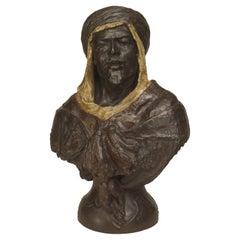 Moorish Bronze Man Bust