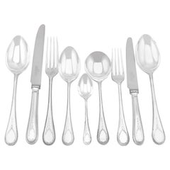 Vintage 1992 Sterling Silver Canteen of Cutlery for Eight Persons
