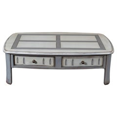 Cherry Coffee Table, One Drawer, French Countryside Style, Shabby Finish
