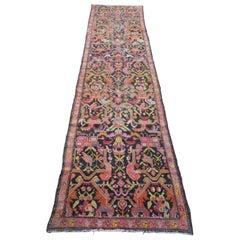 Caucasian Karabagh Tree of Life Raspberry and Black Carpet Runner