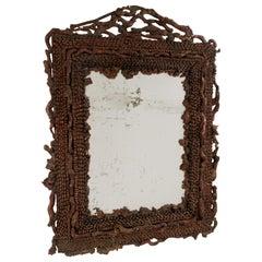 Rustic Continental Burl Root Mirror