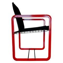 """Chair """"Quadra"""" Design Gigante Zambusi Boccato for Seccose, 1980s"""