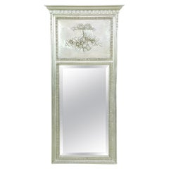 Italian Neo-Classical Style Pier Mirror in Painted Silver