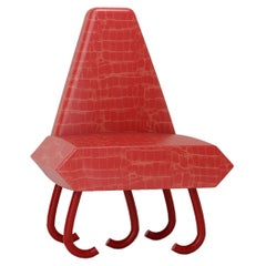 Leather Five Leg Chair by Rejo Studio