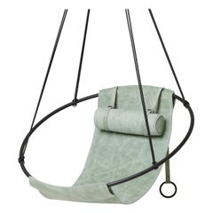 Modern Hanging Swing Chair, Indoor Swing, Sage Green, Special Edition