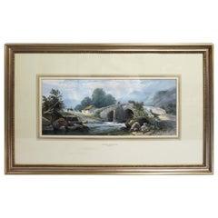 Watercolour Landscape by Thomas Rowbotham 'Irish, 1823-1875'