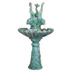 "Fountain ""Dauphin"" in Earthenware"