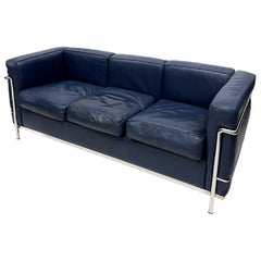 LC2 3 Seat-Sofa by Le Corbusier, Charlotte Perriand and Pierre Jeanneret