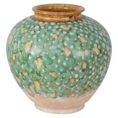 Chinese Tang Dynasty-Style Sancai Glazed Porcelain Vase