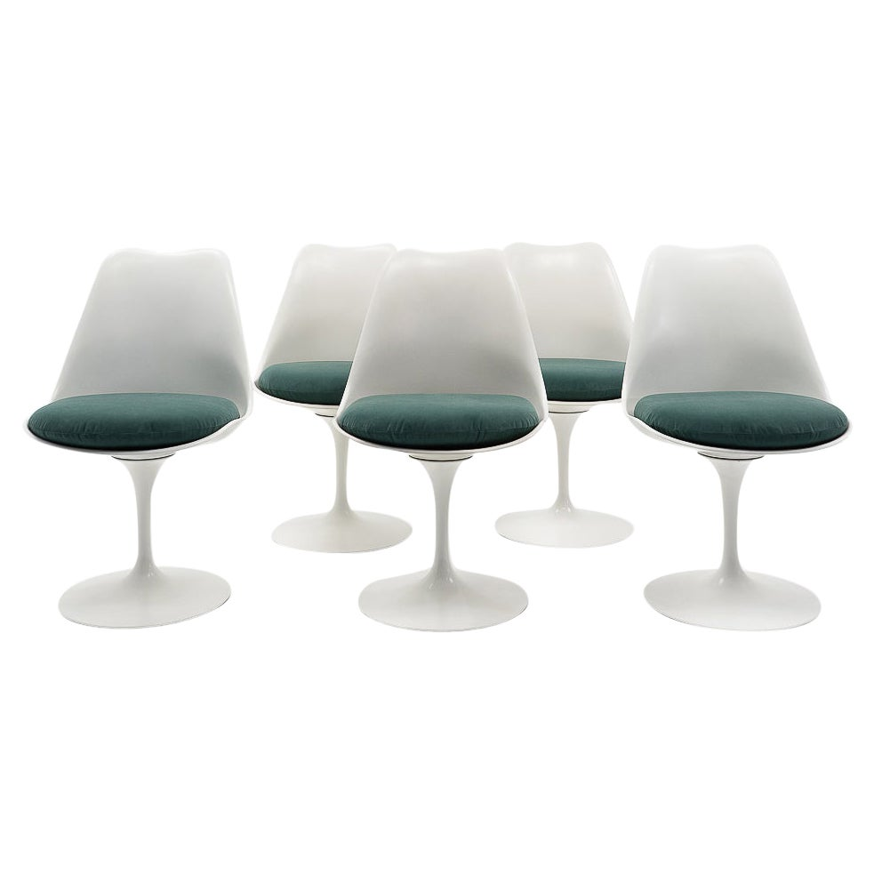 Design Classic Tulip Side Chairs by Eero Saarinen for Knoll, 1960s, Set of 5