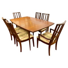 Mid-Century Modern Broyhill Brasilia Expandable Dining Room Set & Table 6 Chairs