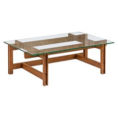 Walnut Wood and Glass Coffee Table by Ico Parisi, Italy, 1960 ca