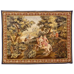 Wonderful Fine Antique French Aubusson Tapestry