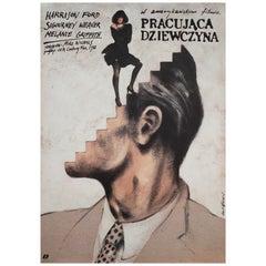 Working Girl 1990 Polish B1 Film Poster, Pagowski