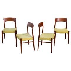 Kai Kristiansen Set of Four Dining Chairs in Teak for K.S. Mobler Denmark, 1960s