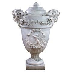 Monumental Italian 19th Century Marble Urn