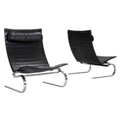 Pair of PK 20 Easy Chairs by Poul Kjærholm for E. Kold Christensen