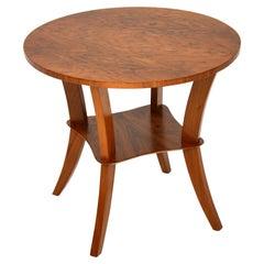 Art Deco Figured Walnut Coffee / Occasional Table