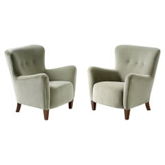 Custom Made RYO Velvet Lounge Chairs