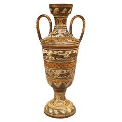 Italian Mid-Century Grecian Etruscan Style Earthenware Urn