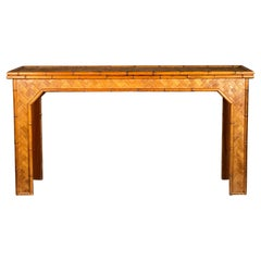 Unusual Bamboo Console Table