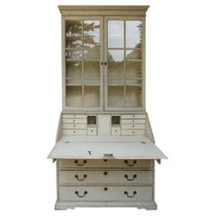 Late Gustavian Secretary with Glass Fronted Library