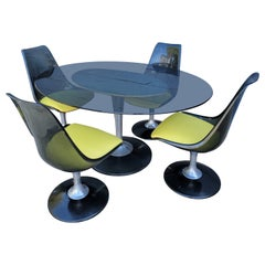 Chromcraft Lucite & Glass Space-Age Dining Set, 1970's