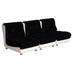 1970's Italian Three Roche Bobois Lounge Easy Chairs Designed by Mario Bellini