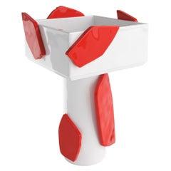 Irene Decorative Ceramic Jar, Contemporary Red & White Decor Vase Home Decor