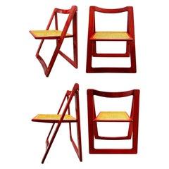 "Set of 4 Chairs ""Trieste"" Design Aldo Jacober Pierangela D'Aniello for Bazzani"