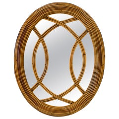 Mid Century Rattan Mirror