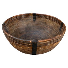 Fiber/Wood Bowl with Metal Supports