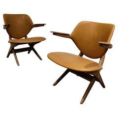 Pair of Pelican armchairs by Louis Van Teeffelen for Wébé, 1960s