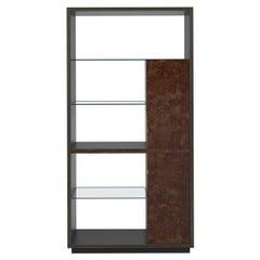 French Art Deco Styler Open Shelf Bar Cabinet