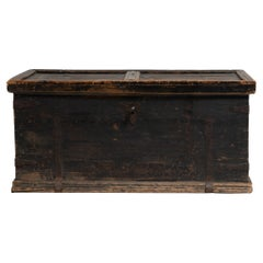 Early 19th Century Swedish Black Pine Soldier's Chest