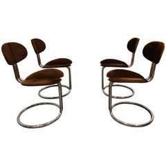 Vintage Italian Chrome Dining Chairs, 1960s