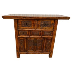 Vintage Carved Asian Console / Altar Table