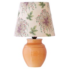 Ceramic Table Lamp with Customized Shade, France